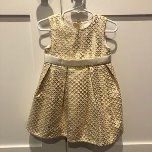 Gymboree Holiday Girls Baby Dress 18-24 M Gold